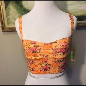 Selena Gomez NWT Floral Crop Top/Bralette
